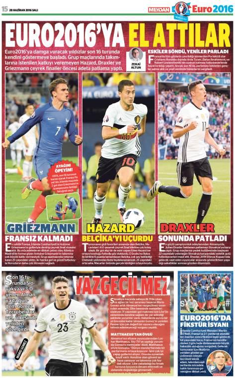 Euro2016 yıldızlar